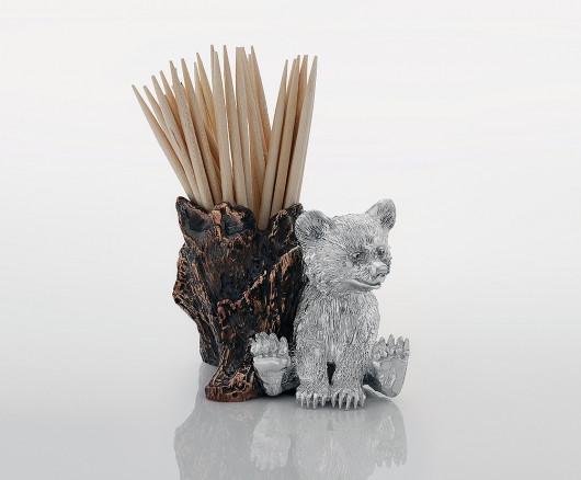 Подставка под зубочистки с мишкой